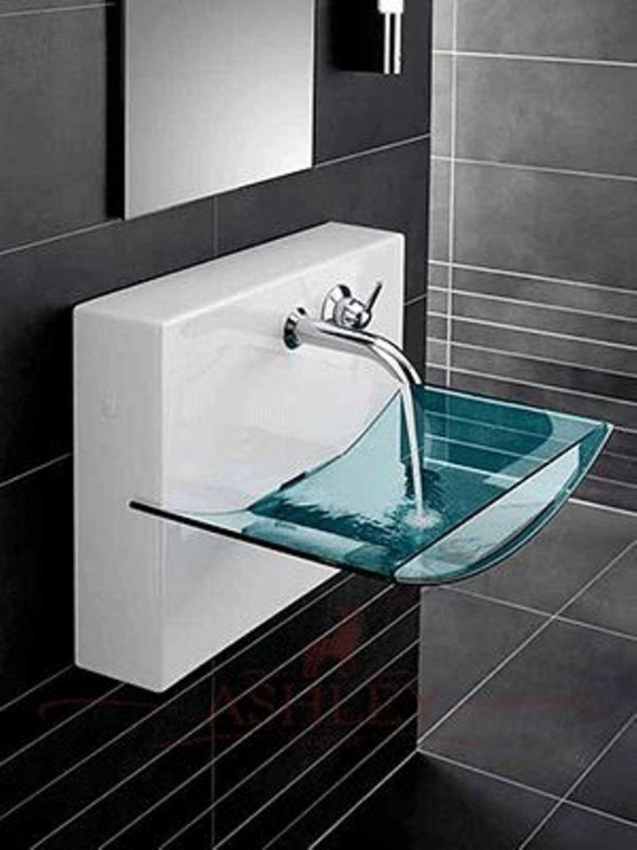 Small Modern Bathroom Black Sink 30 Small Modern Bathroom Ideas Deshouse Bathroom Sink Design Sink Design Glass Bathroom Sink