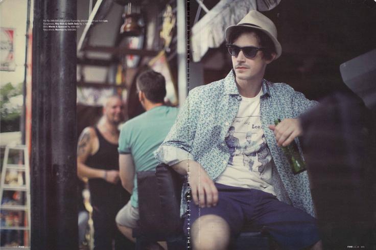 Sunglasses: Ray-Ban    (Source: FHM Magazine)