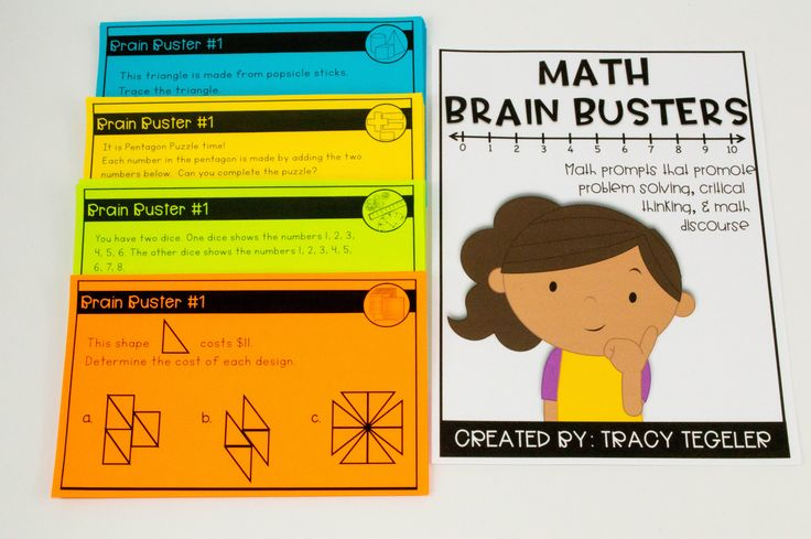 These Brain Busters are a perfect enrichment, early finisher, or guided math activity geared toward high first graders, second graders, or third graders!  Problem solving, critical thinking, and math discourse!