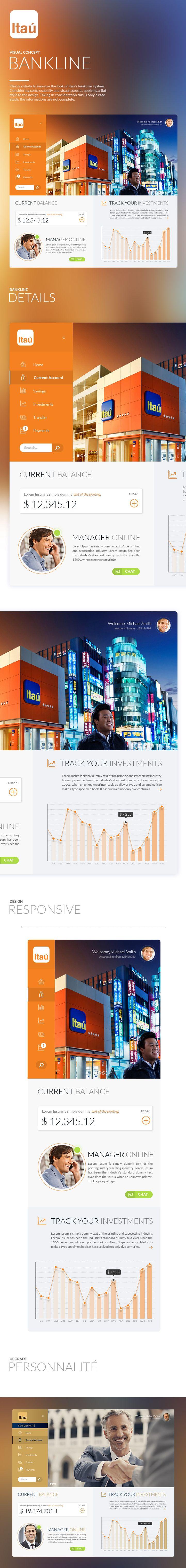 Itaú Bankline - Concept #ArtDirection, #UI #UX, #WebDesign