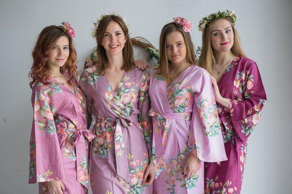 lilac bridesmaid robes - 570×380