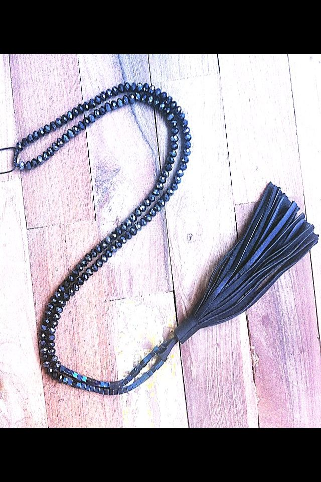 Lo & Behold jewelley Leather necklace