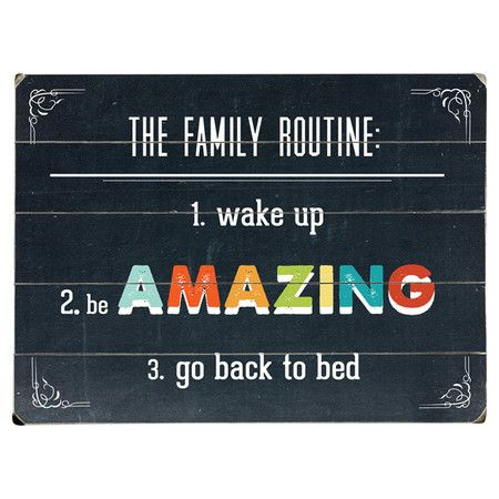 Family Routine Wall Decor