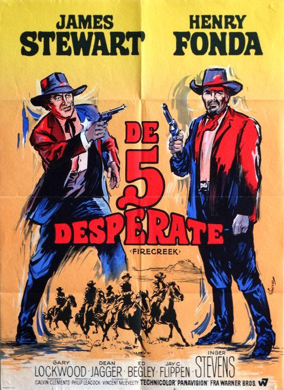 "Firecreek.1968Original 24.25""x33.25"" Danish Movie Poster.K. Wenzel ArtofJames Stewart and Henry Fonda.Gary Lockwood,Inger Stevens by ArtisticSoulStudio on Etsy"
