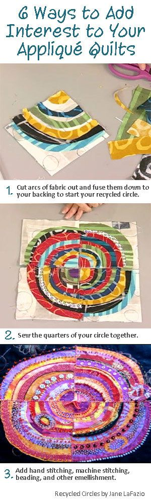 Discover 6 ways to add interest and texture to your applique quilts >>
