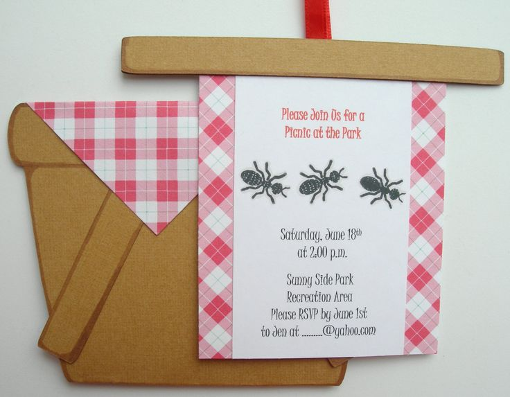 Picnic Invitations 10 Pack- Customized. $25.00, via Etsy.