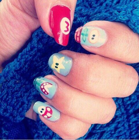 15 Fotos de uñas pintadas de Mario Bross #mariobross #nails