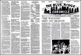 The Blue Ridge Chronicle newspaper for dolls - in two sizes