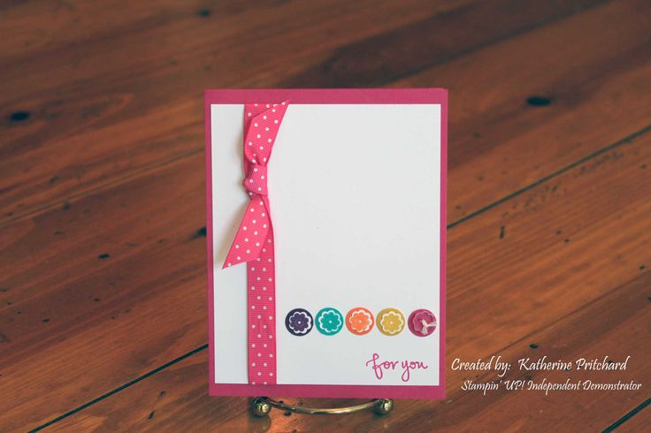 itty bitty bits, stampin' up #card