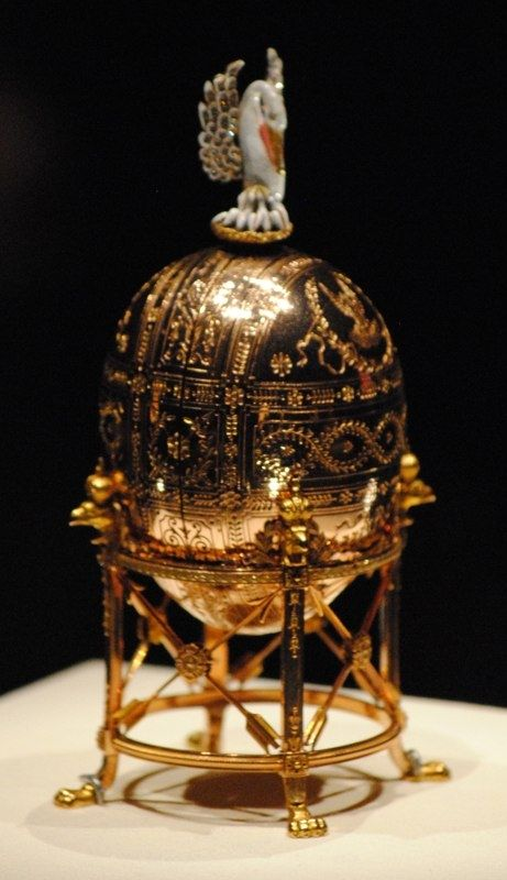 The Dowager (or Imperial Pelican) Fabergé egg, is a jewelled Easter egg made under the supervision of the Russian jeweller Peter Carl Fabergé in 1898.[2] The egg was made for Nicholas II of Russia, who presented it to his mother, the Dowager Empress Maria Feodorovna on Easter 1898.