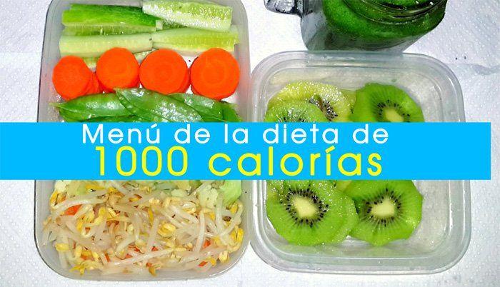 La dieta de 1000 calorías es una alternativa para perder peso en poco tiempo, se aconseja llevarla por poco tiempo, ya que podría poner en riesgo la salud..