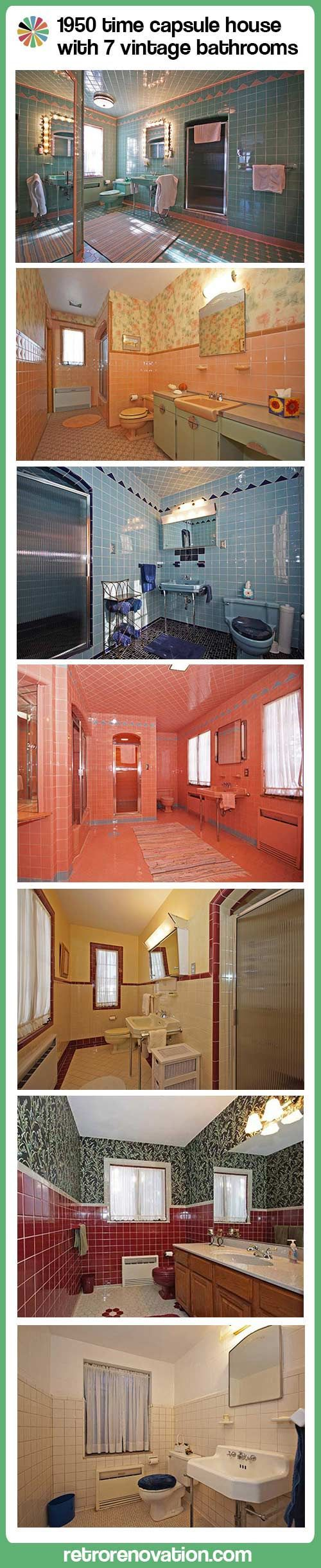 1950 Time Capsule House with 7 vintage bathrooms — Grosse Point Park, Mich.