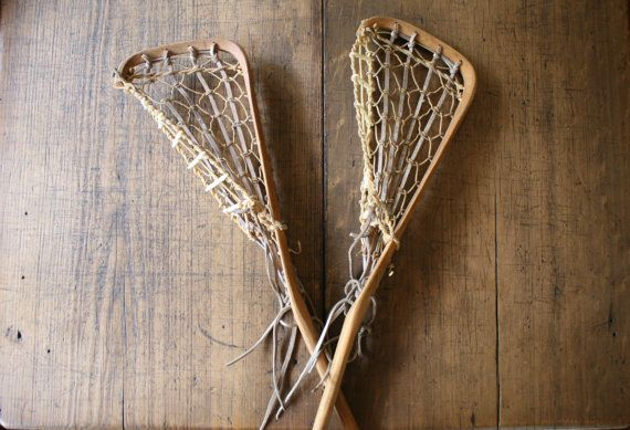 Hattersley's Viktoria Lacrosse Stick Wood Leather by FoundByHer