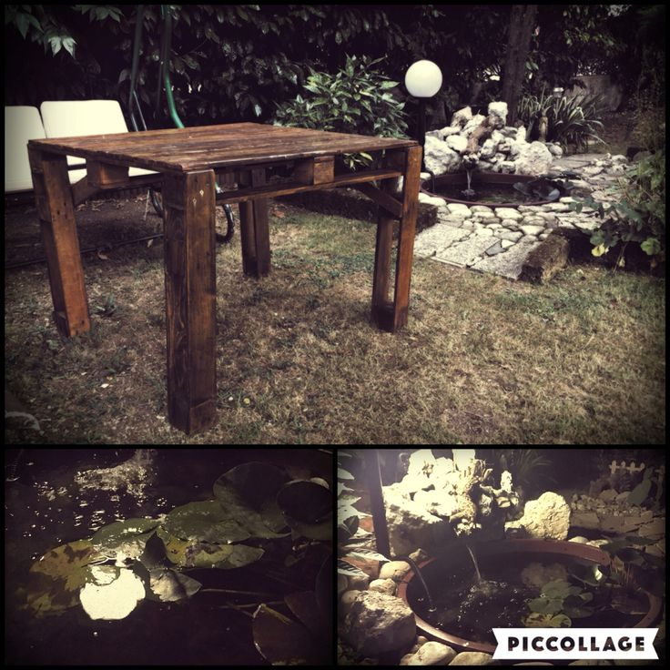 Angolo Zen - #faidate #hobby #table #relax #pallets #water #fish