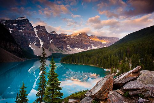 It doesn't get more picture perfect than Moraine Lake, just outside of Lake Louise, Alberta.