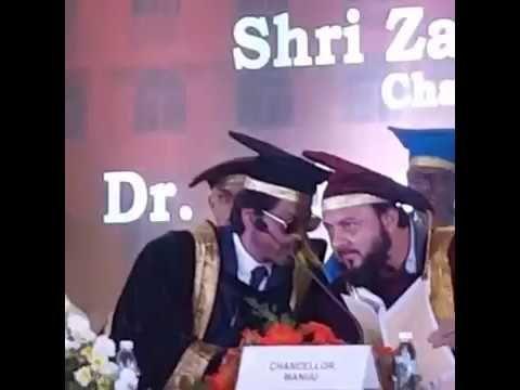 Shah Rukh Khan @ Maulana azad urdu university hyderabad | Shah rukh khan...