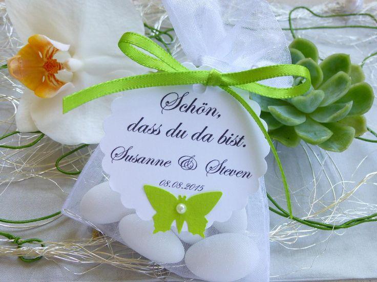 Gastgeschenk  Hochzeit,Schmetterling von Geschenkefarm auf DaWanda.com