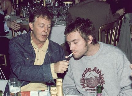 Paul McCartney and Damon Albarn. Too much awsomeness.