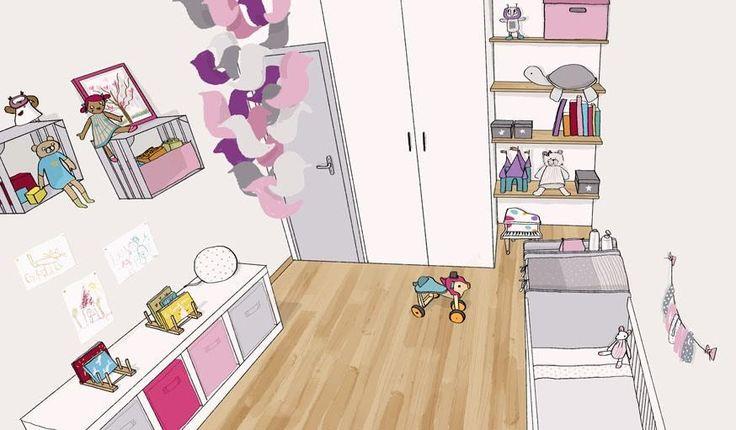 La chambre rangée selon les conseils de Magalie Jayat. © Lena Piroux