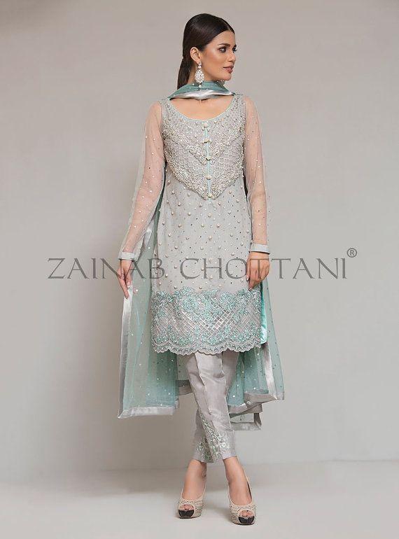 Shalwar Kameez Zainab Chottani Chiffon Replica by KaamdaniCouture