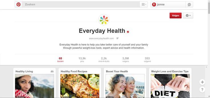 Everyday Health probeert haar publiek te lokken an de hand van 'feel good' afbeeldingen.  Het merk maakt tal van boards met daarin medische feiten, gezondheidstips, tips om op een gezonde manier gewicht te verliezen en informatie om een gezond leven te leiden.  Daarnaast publiceert het merk ook motiverende verhalen die het merk versterken.