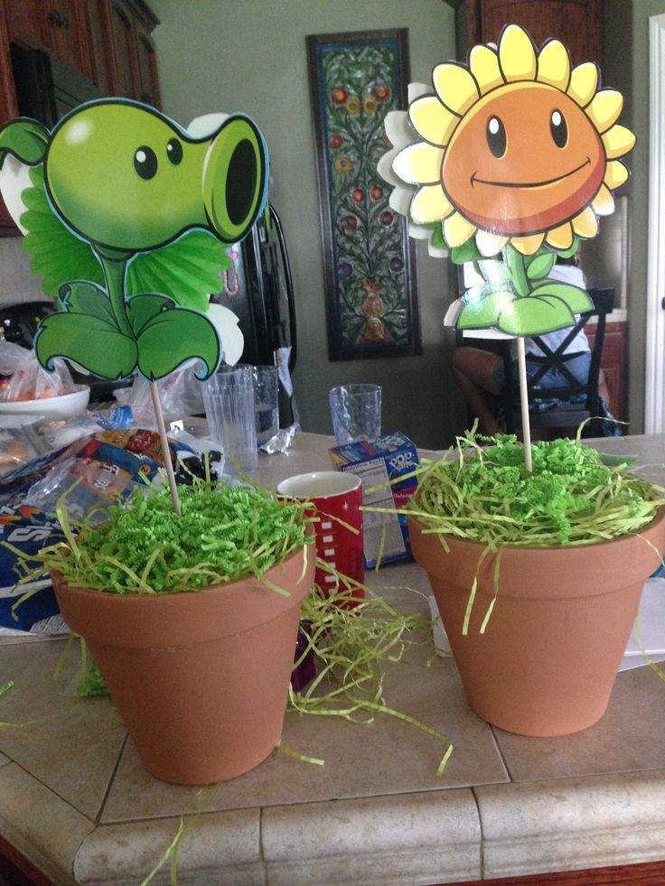 plants vs zombies centerpieces