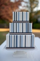 Lovely light and dark blue stripes. No fuss. Just lovely.