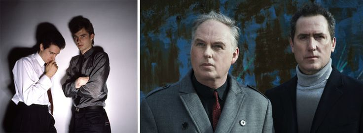 OMD in the 1980s and OMD in 2013.