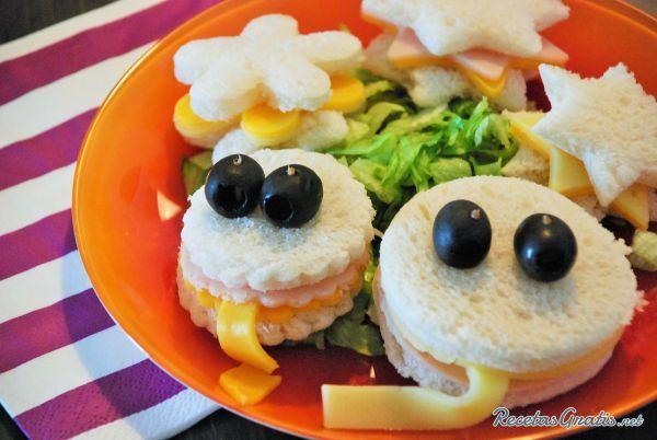 Sándwiches para fiestas infantiles