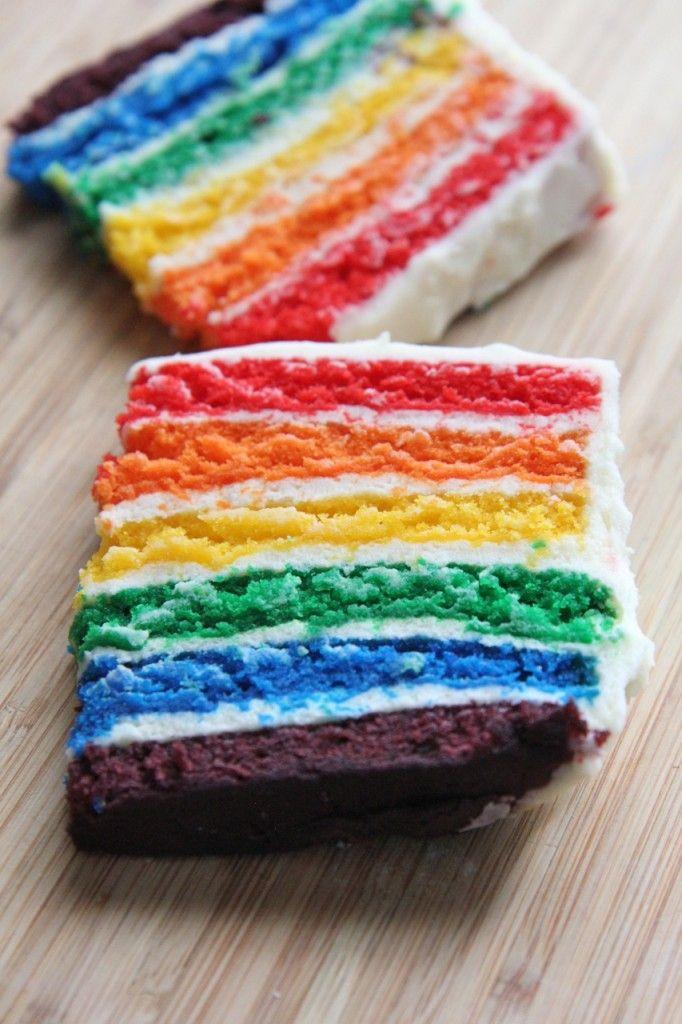 homemade rainbow layer cake recipe 2