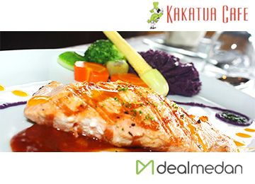 Salmon Festive Di Kakatua Cafe, Salmon Steak + Ice Cream Hanya Rp. 70.000,-nett
