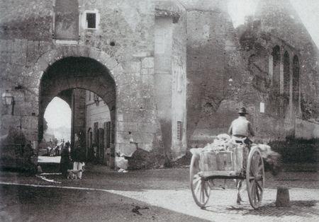 "Ettore Roesler Franz: ""Porta San Paolo"" c.a. 1880."