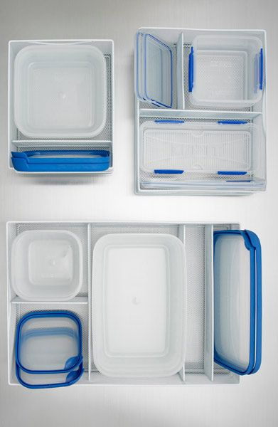 White Mesh Food Storage Organizers