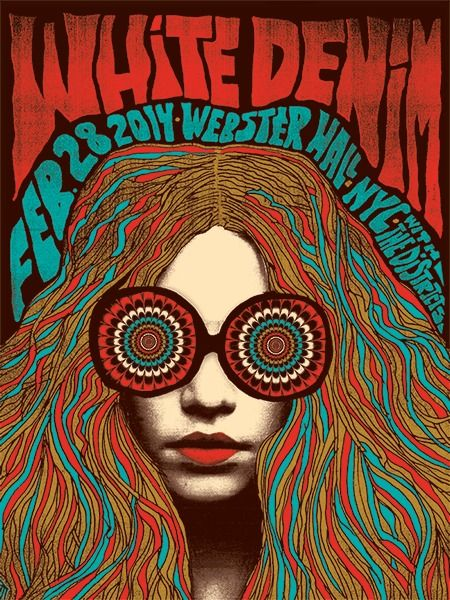 White Denim gig poster by Nate Duval