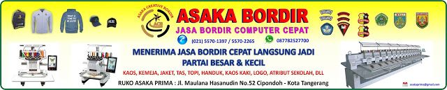 JASA BORDIR KOMPUTER DI TANGERANG 021-55701397: Jasa Bordir Komputer Satuan Harga Murah di Jakarta...