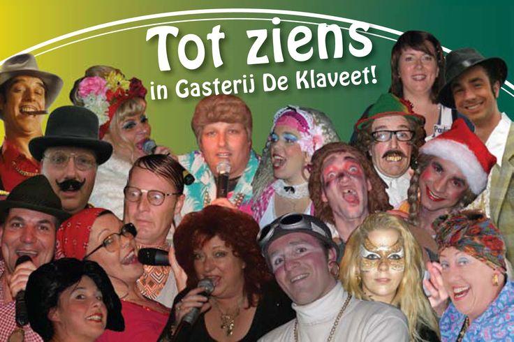 http://www.party-planners.nl Dinershows, themafeesten, spelshows in Gasterij de Klaveet in Achterveld boek je bij Party Planners. Alles all inclusive.