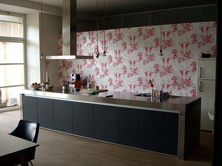 Architekturbüro Emulsion in Sils im Domleschg. Tapete Tres Tintas