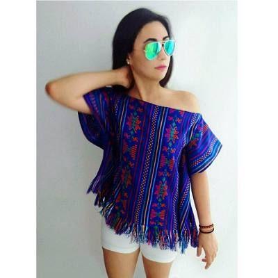 Blusas Étnicas Sin Hombros De Super Moda. Varias Tallas - $ 290.00 en Mercado Libre