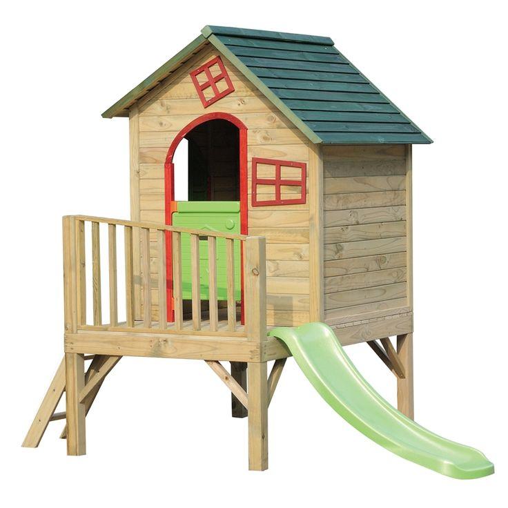 Swing Slide Climb Bungalow Timber Playhouse $679