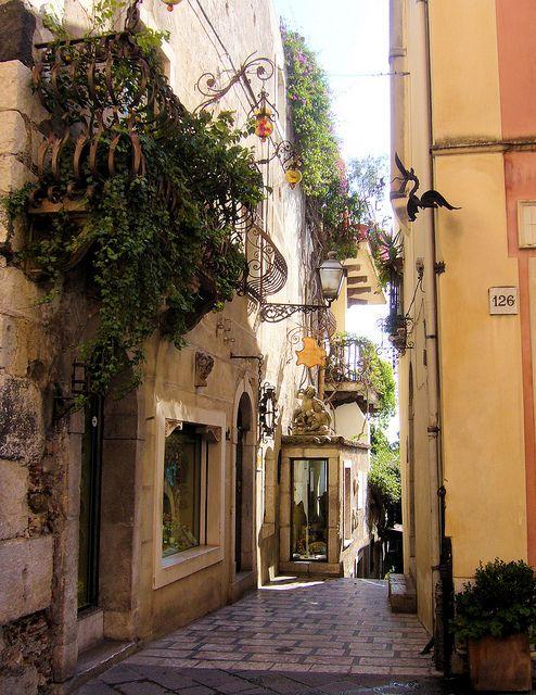 Beautiful alley in Corfu, Ionian Islands, Greece