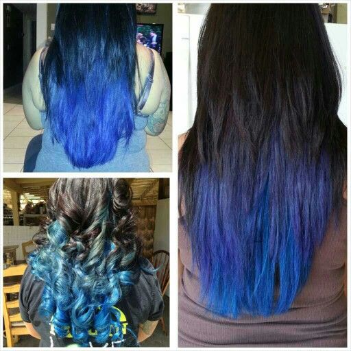 Cololored my own hair.. went from #electricbluehair to #bluegreenhair (from the blue washing out)... then when it was time for touch up, I added purple...  #longhairdontcare #hairfordays #bluehair #bluegreenhair #blueandpurplehair #hair #ombre #bellusacademy #belluspoway #cosmostudent #cosmo103 #rusk #blue #joico #colbaltblue #indigo #3tonedhaircolo