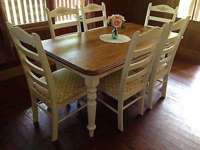 Country French Provincial Shabby Chic Dining Suite in Moreton  QLD   eBay11 best outdoor dining images on Pinterest   Outdoor dining  . Shabby Chic Dining Room Table Ebay. Home Design Ideas