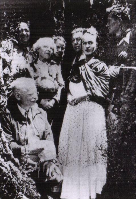 Frida Kahlo, Diego Rivera, Leon Trotsky, Natalia Sedova, Andre Breton
