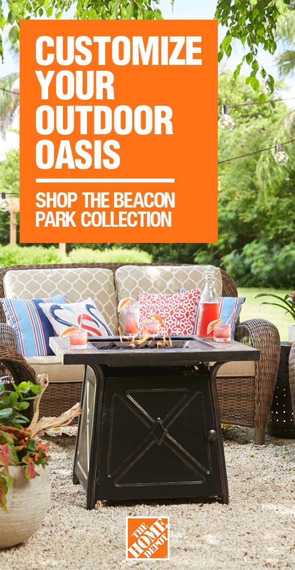 Customize the Beacon Park patio set for your outdoor space by choosing the pieces, fabric and color you want. Find what fits your style at The Home Depot.