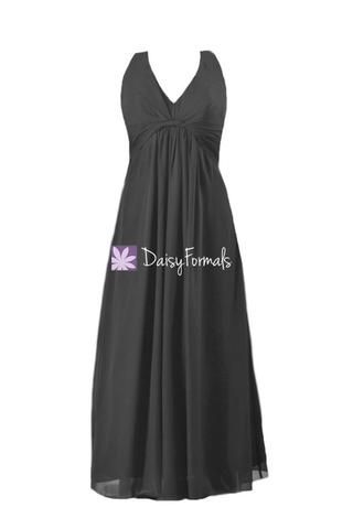 Black Chiffon Dress Long Halter Chiffon Evening Dress Women Party Dress (BM414) – DaisyFormals-Bridesmaid and Formal Dresses in 59+ Colors