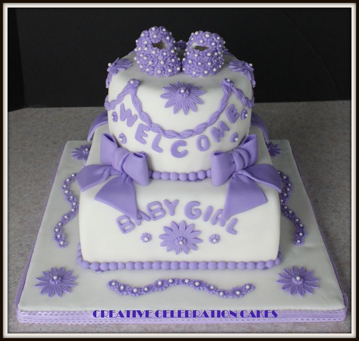 Baby Shower Decorated Cakes: Baby Girl - Cake Decorating