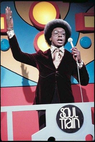 Don Cornelius hosting Soul Train.