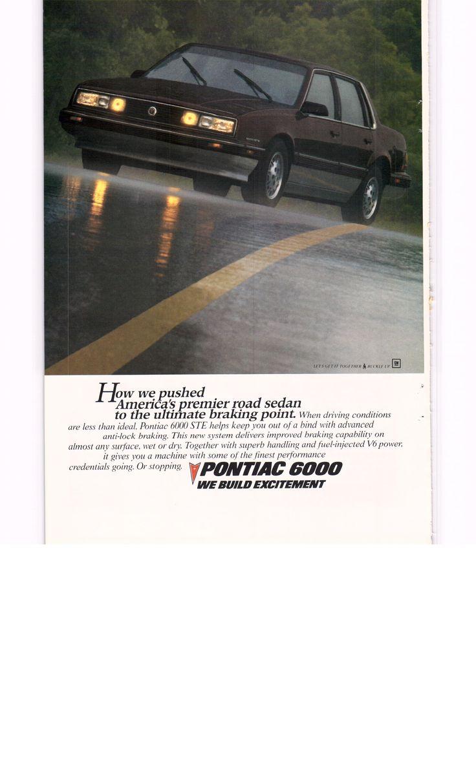 1987 pontiac 6000 national geographic april 1987