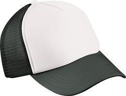 Dětská 5 panelová síťovaná kšiltovka MB071 Bílá / černá