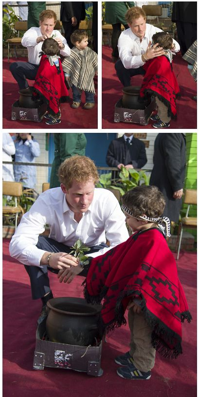 Prince Harry doing what he does so well with Children